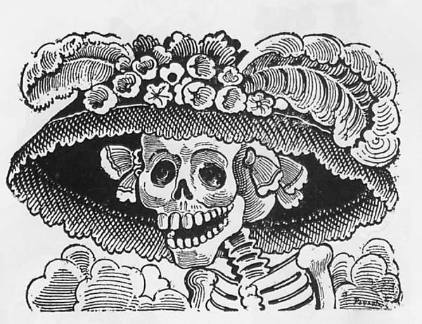 The original Calavera Catrina of José Guadalupe Posada.