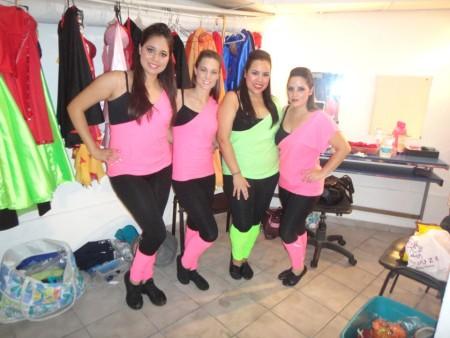 Backstage dance performance
