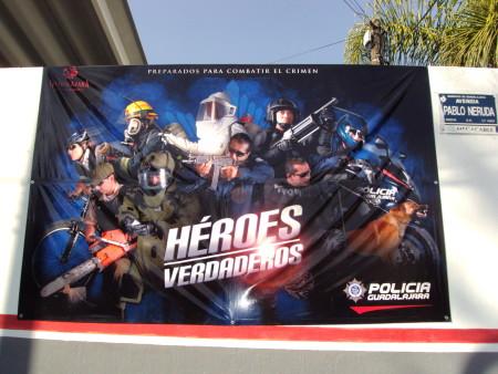 Guadalajara government superheroes