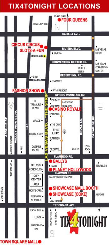 Las Vegas Tix4Tonight Locations